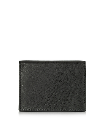 Country Black Leather Business Card Holder