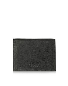 Country Black Leather Business Card Holder - Pineider
