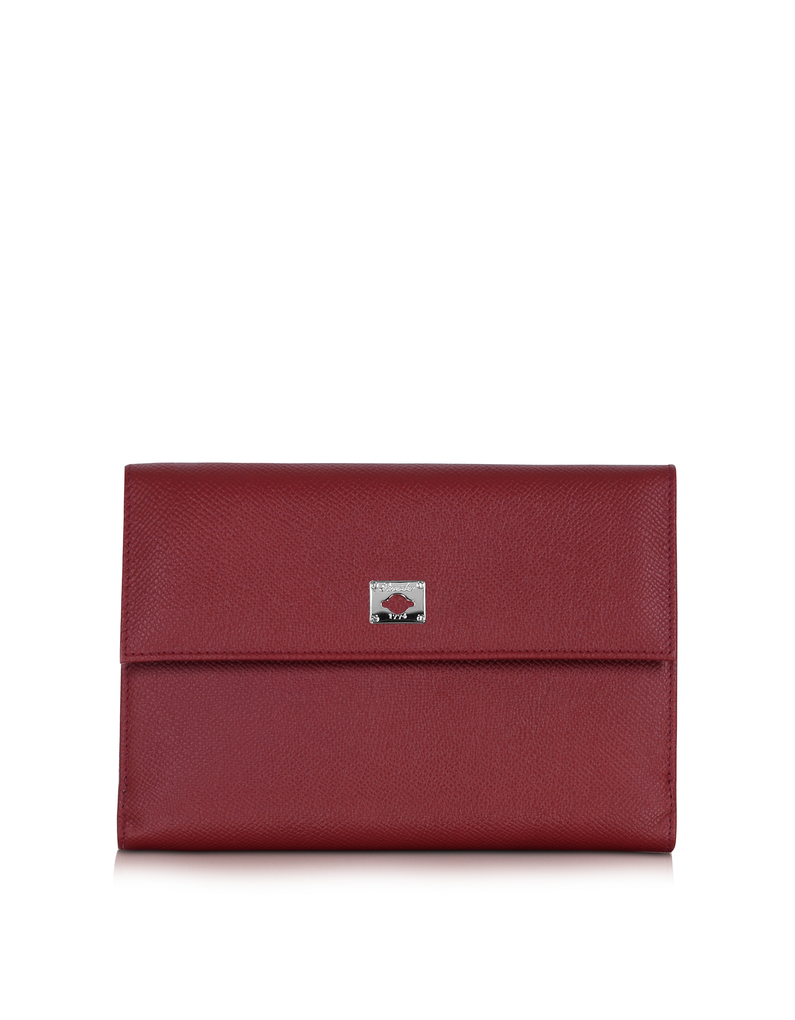 Pineider Handbags, City Chic Burgundy Leather French Purse Wallet
