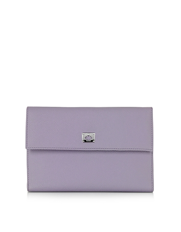 Pineider - City Chic Lilac Leather French Purse Wallet