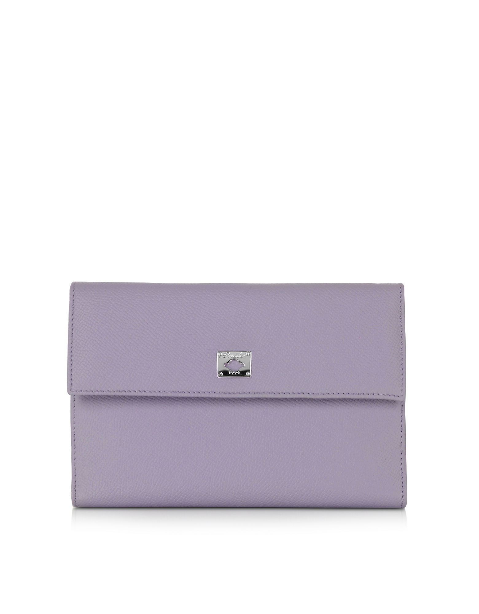 Pineider Handbags, City Chic Lilac Leather French Purse Wallet