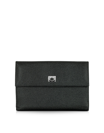Pineider - City Chic Black Leather French Purse Wallet