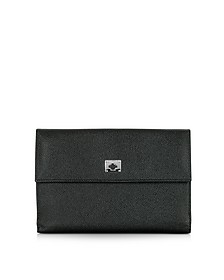 City Chic Black Leather French Purse Wallet - Pineider