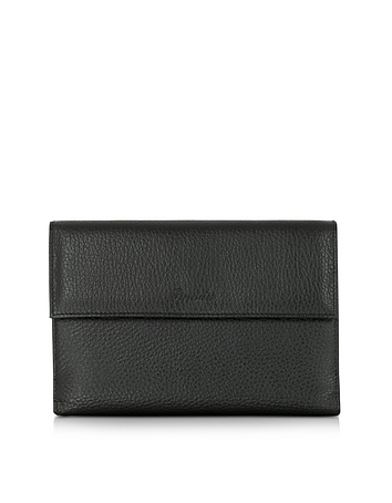 Pineider - Country Black Leather French Purse Wallet