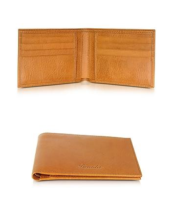 Pineider - Country Cognac Leather Billfold Wallet