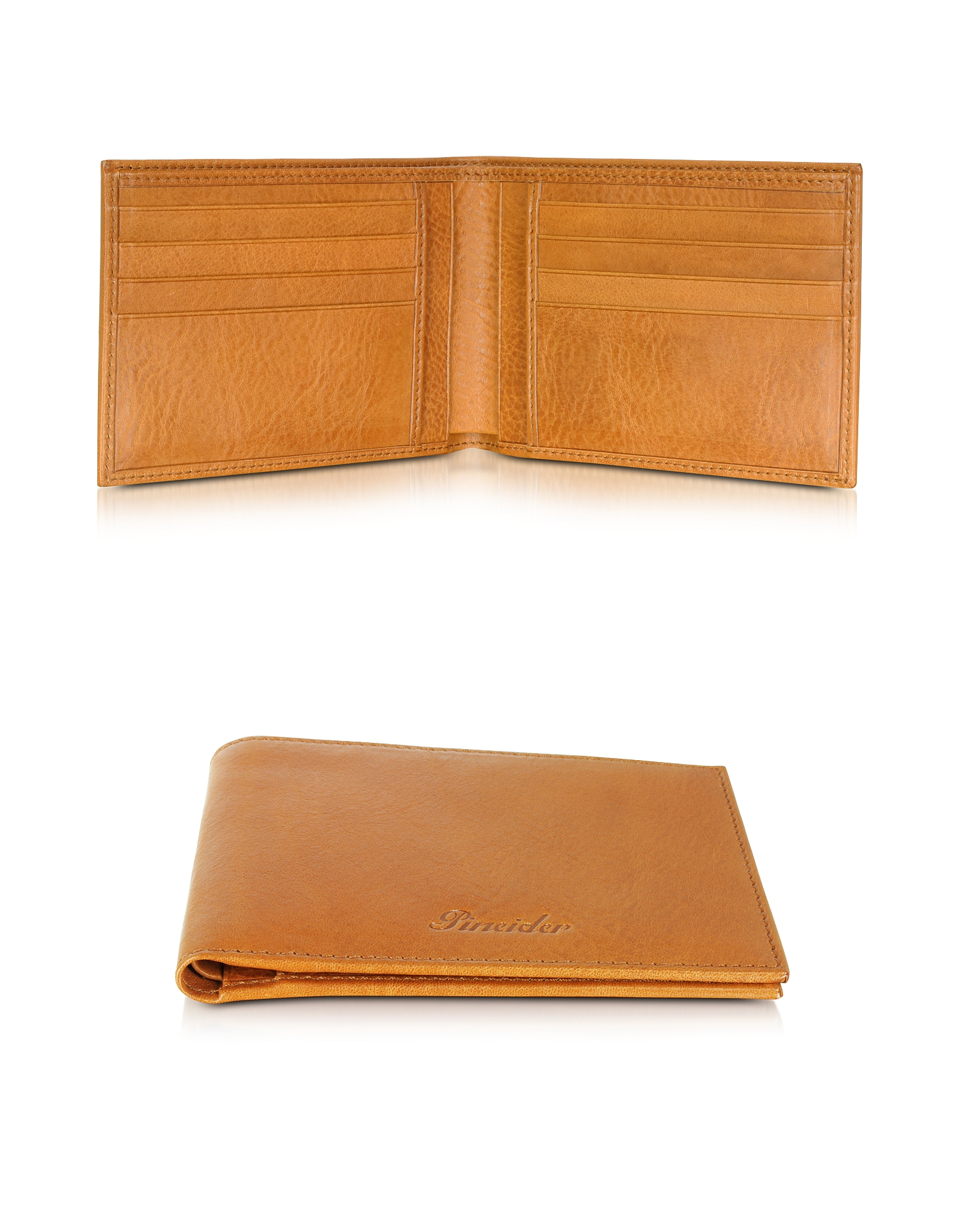 Pineider Wallets, Country Cognac Leather Billfold Wallet