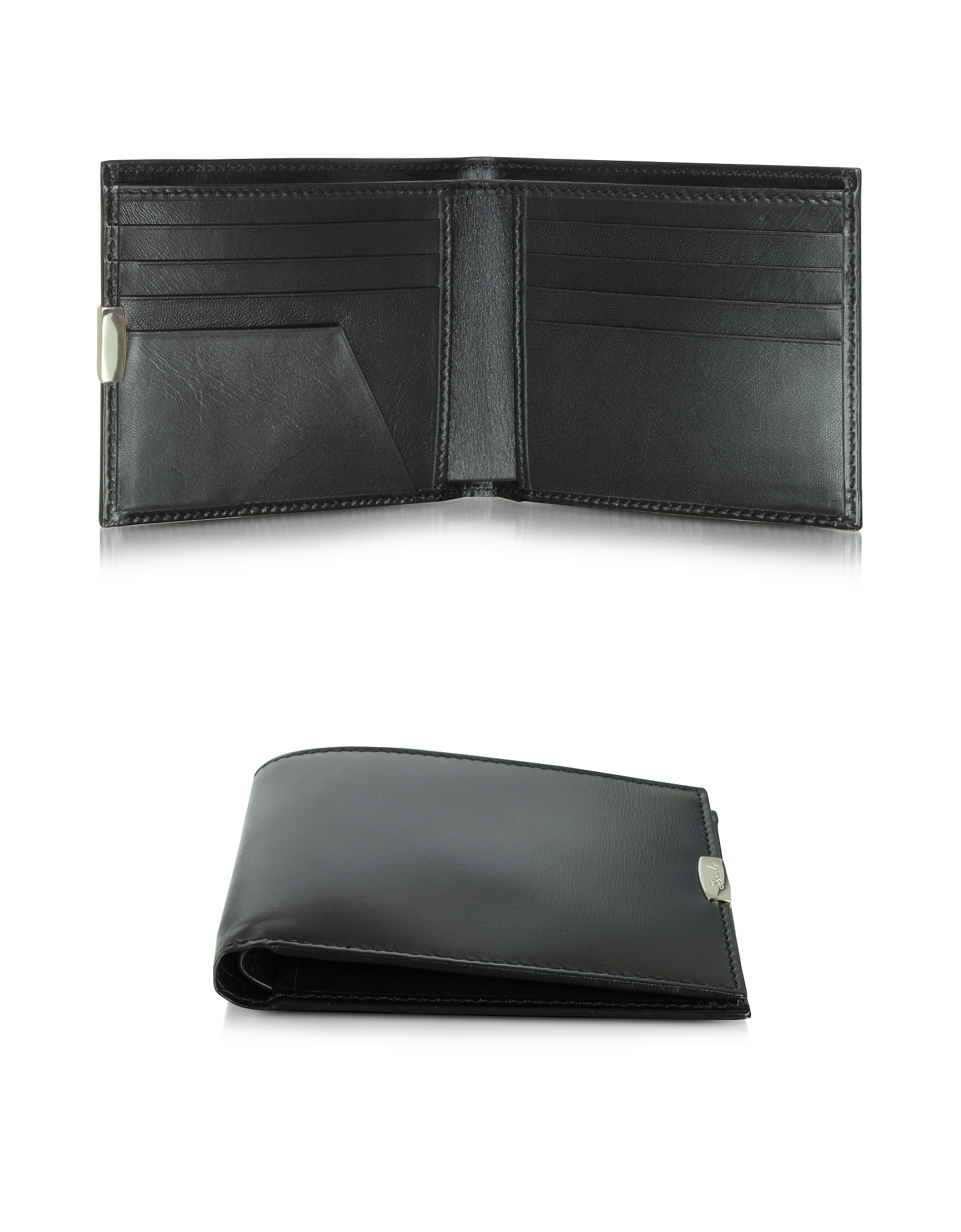 1949 Small Black Leather Men's Wallet