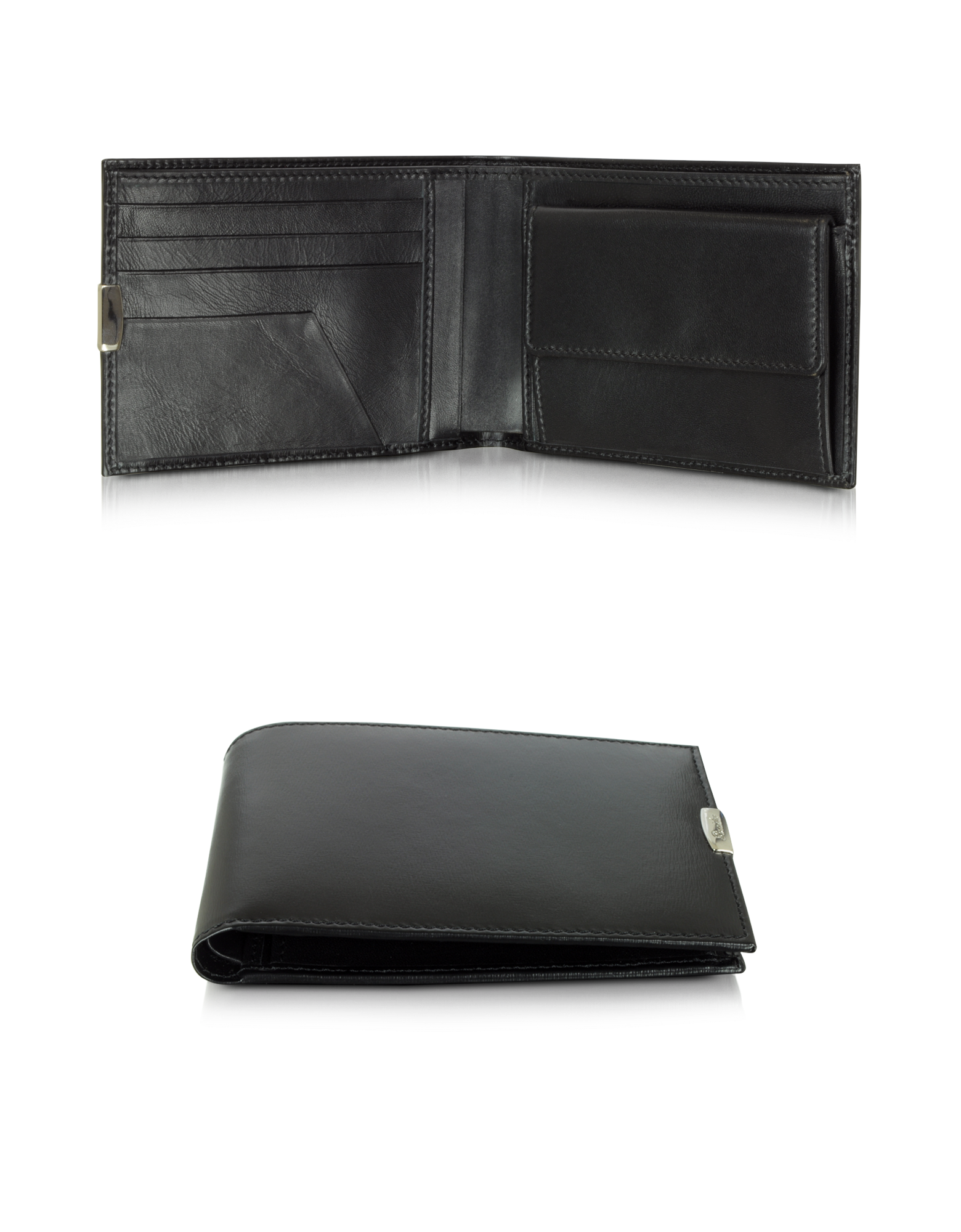 Image of 1949 Black Leather Men's Wallet W/Coin Pocket