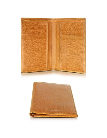 Pineider - Country Cognac Leather Vertical Wallet