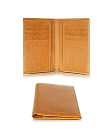 Country Cognac Leather Vertical Wallet - Pineider