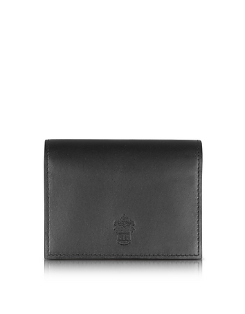 Power Elegance Double Black Leather Card Holder pn160017-002-00