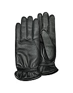 Lux-ID 208513 Men's Black Deerskin Leather Gloves w/ Cashmere Lining
