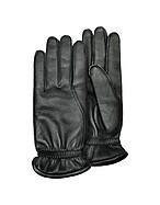 Lux-ID 208513 Men's Black Deerskin Leather Gloves w/ Cashmere Lining