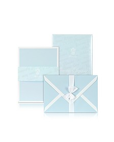 Power Elegance - 25 Sky Blue Cards with White Border - Pineider