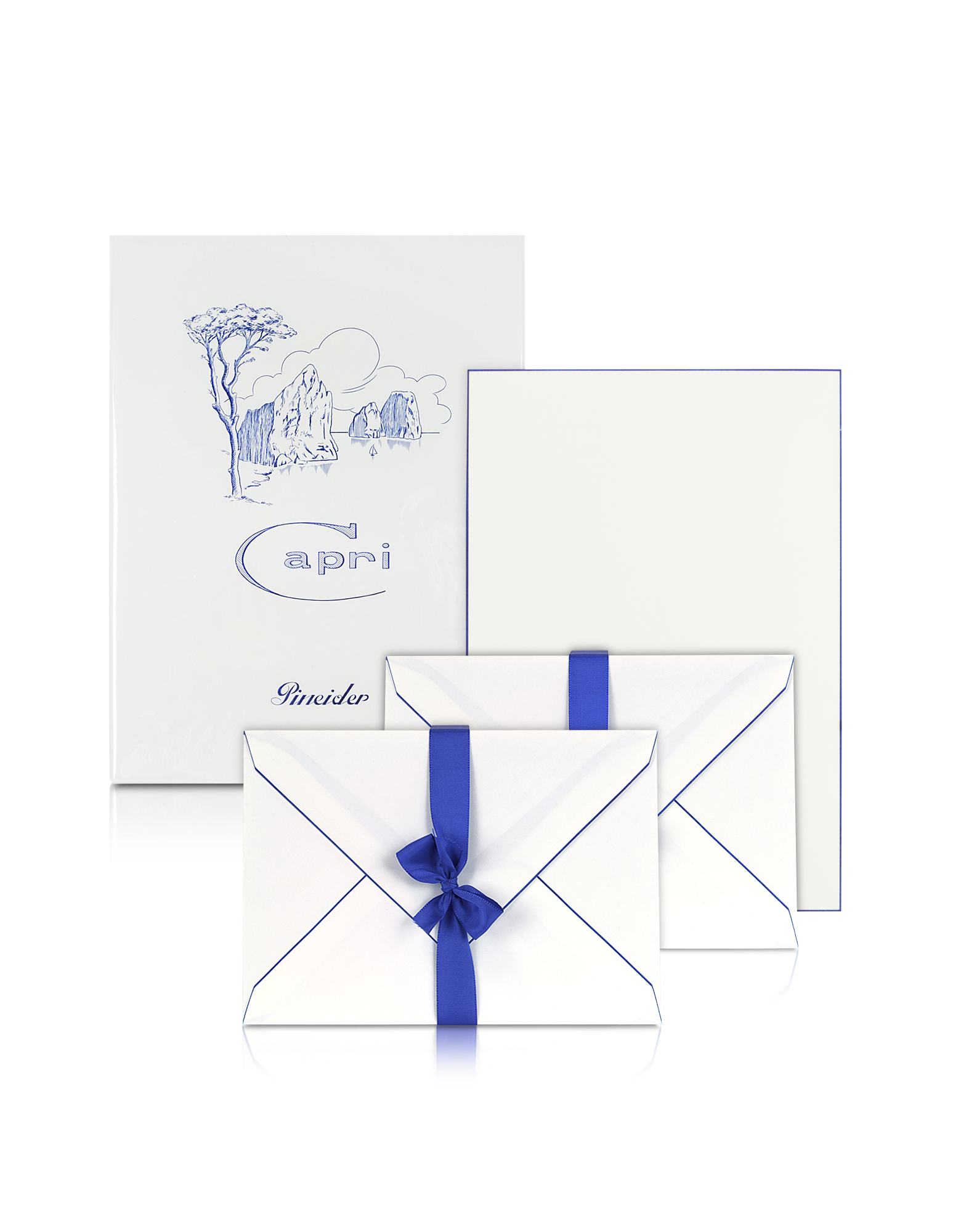 Image of Capri - 50 Sheets White Letter Paper with Handpainted Border