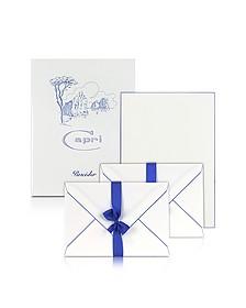Capri - 50 Sheets White Letter Paper with Handpainted Border - Pineider