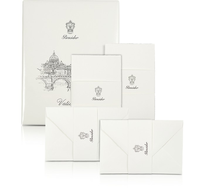 Vaticano - 25 Water-Cut Note Cards - Pineider