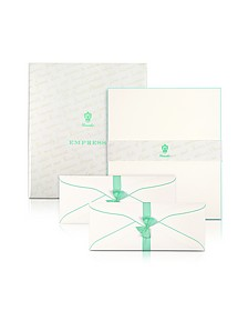Empress - 50 Sheets White Letter with Handpainted Border - Pineider