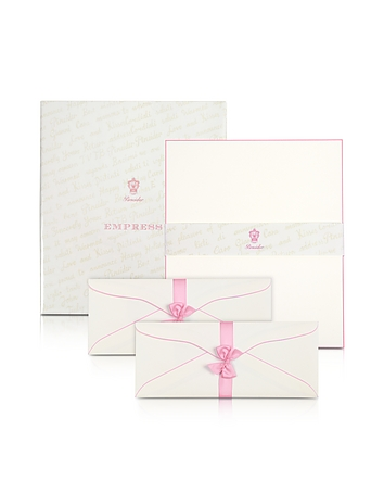 Pineider - Empress - 50 Sheets White Letter with Handpainted Border