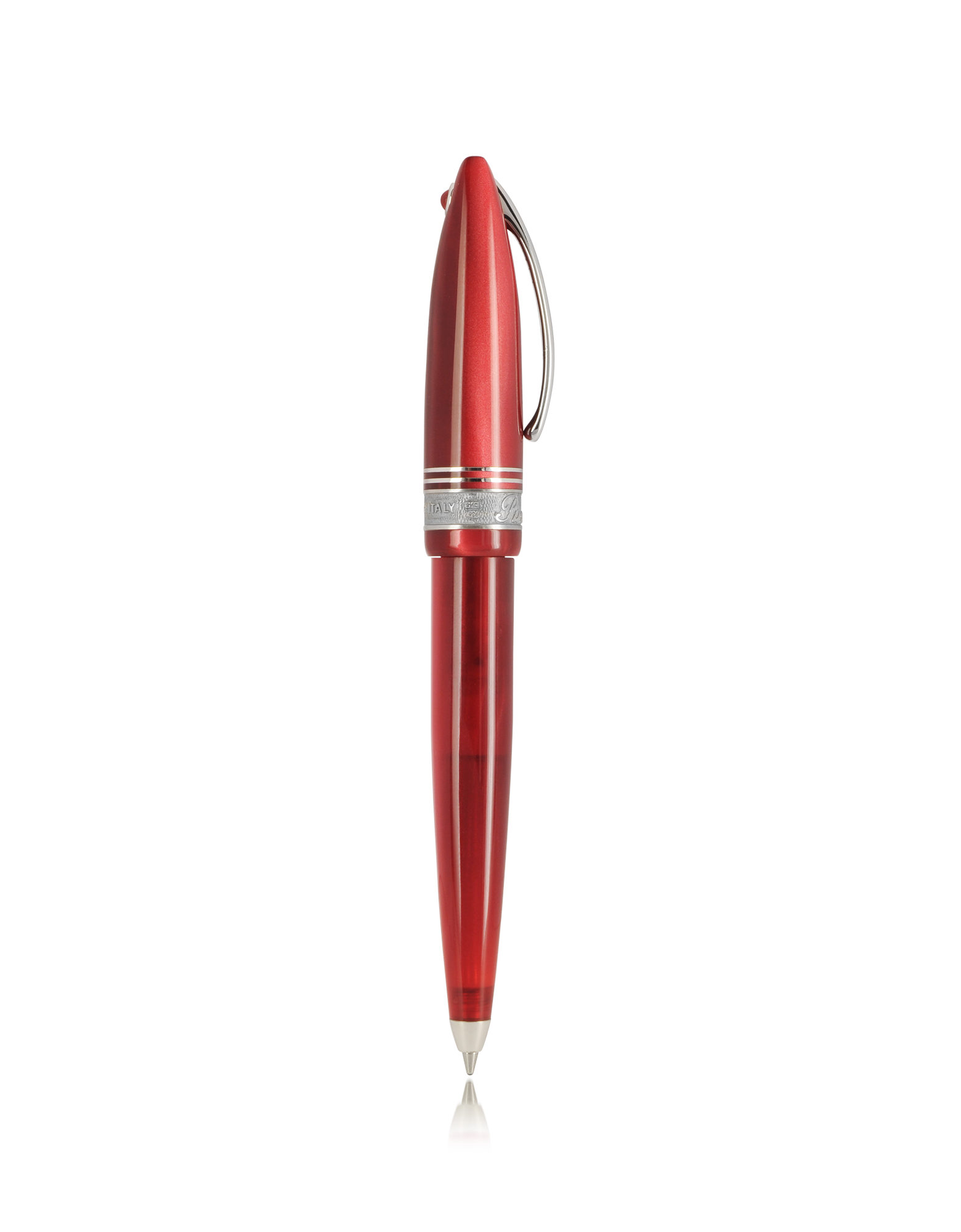 Image of Ego 12.5 Red Mini Resin and Sterling Silver Ballpoint Pen