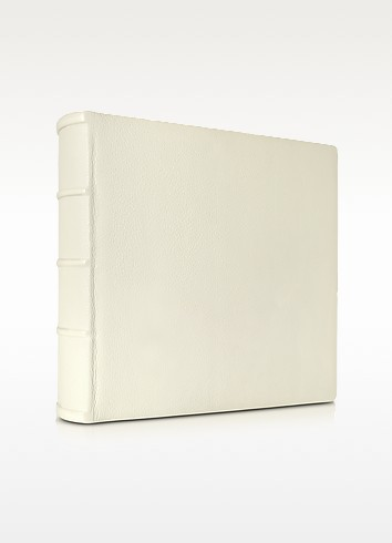 Large Ivory Leather Wedding Photo Album - Pineider