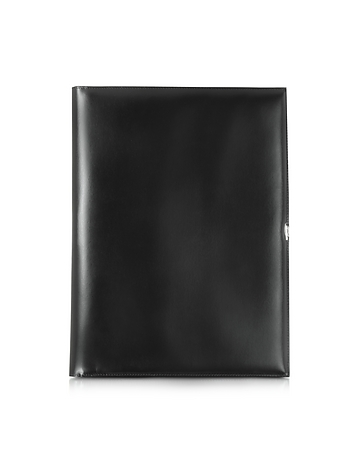 Pineider - 1949 A4 Black Leather Notepad Holder