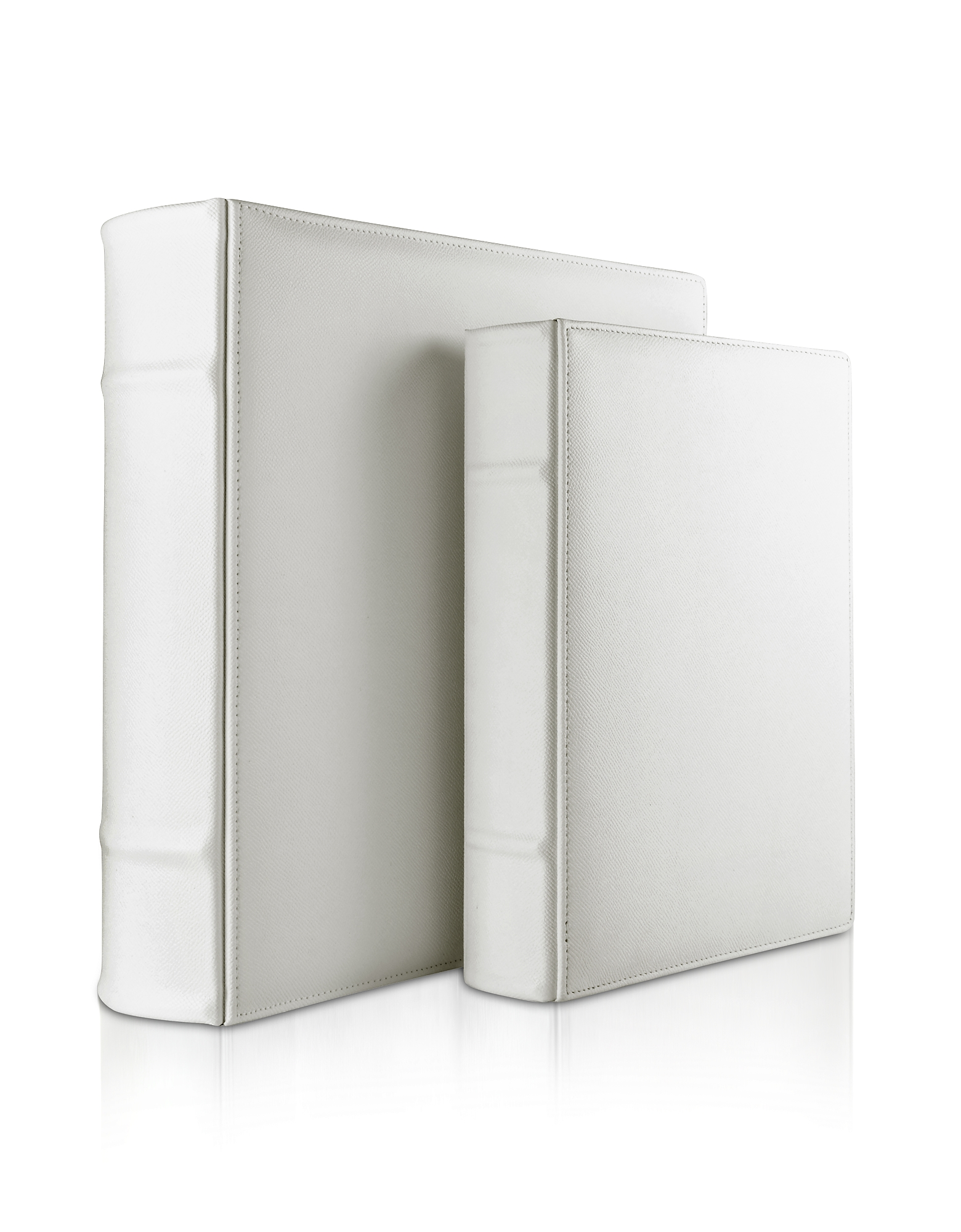 City Chic - White Grained Calf Leather Photo Album
