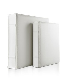 City Chic - White Grained Calf Leather Photo Album - Pineider