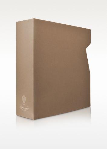 Pineider Power Elegance -  Серовато-коричневая Большая Папка для Фотоальбома