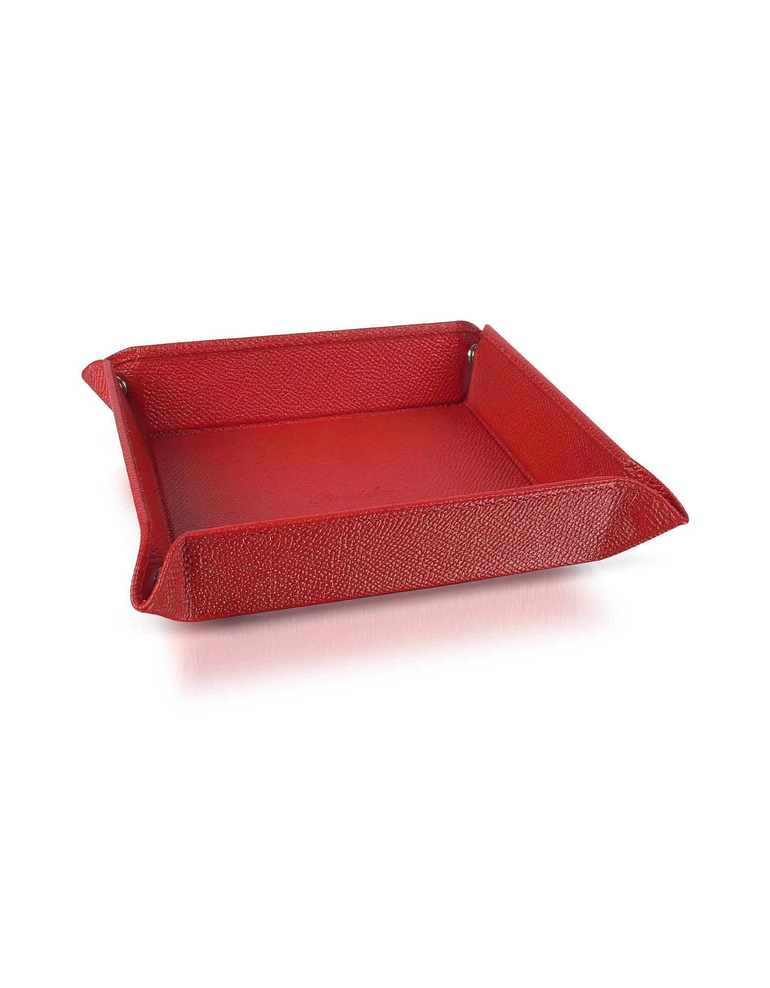 Pineider Small Leather Goods, City Chic - Calfskin Square Medium Valet Tray