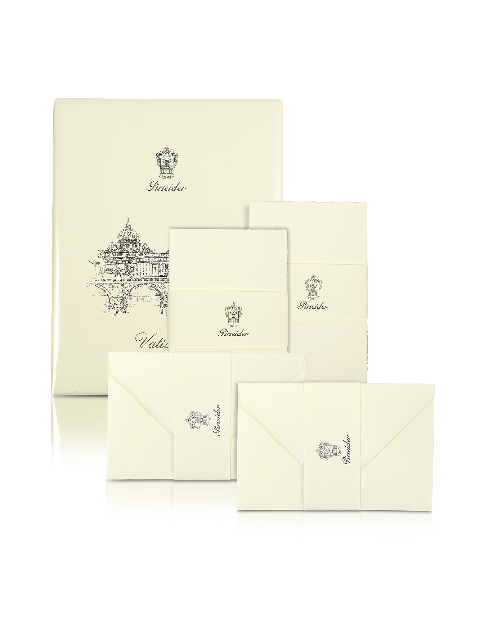 Pineider Desk Accessories, Vaticano - 25 Ivory Deckle-Edged Note Cards