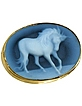 Horse Cameo Agate and 18K Gold Cufflinks - Del Gatto
