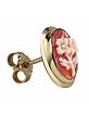 Flowers Cornelian Cameo 18K Gold Earrings - Del Gatto