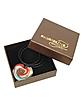 Aventurine & Murano Glass Heart Necklace - Akuamarina