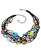 Cancun - Murano Glass Beads & Flowers Multi-strand Necklace - Antica Murrina