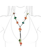 Miriam - Multicolor Murano Glass Beaded Drop Necklace - Antica Murrina