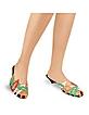 Multicolor Cut-out Patent Leather Slide Shoes  - Amaltea