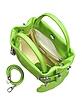 Pistachio Green Leather Buckled Strap Compact Tote - Buti