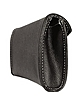 Black Embossed Leather Envelope Clutch - Buti