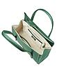 Pine Green Embossed Leather Satchel Bag - Buti