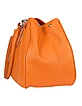 Orange Pebble Italian Leather Horsebit Flap Handbag - Buti