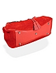 Horsebit Red Italian Suede and Leather Satchel Bag - Buti