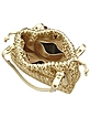 Ivory & Gold Woven Italian Leather Large Satchel Bag - Fontanelli