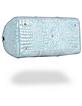 Shiny Sky Blue Croco Leather Travel Bag - Fontanelli