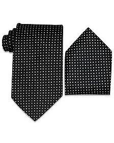 Polkadots Silk Tie & Pocket Square - Forzieri