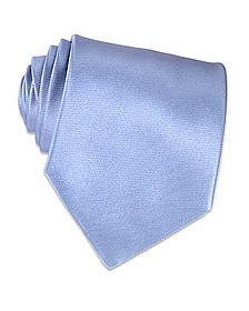 Shimmering Solid Sky Blue Textured Silk Tie - Forzieri