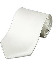 Cravate en soie unie blanche - Forzieri