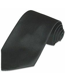 Solid Black Pure Silk Tie - Forzieri