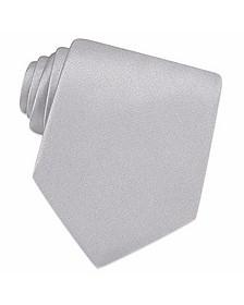 Silver Solid Silk Tie  - Forzieri