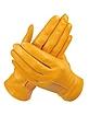 Women's Ocher Unlined Italian Leather Gloves - Forzieri